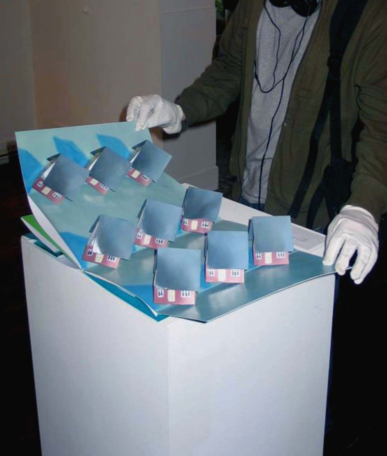 4. Myra Jago_Arrested Development_trifold popup book_oil on card_2012